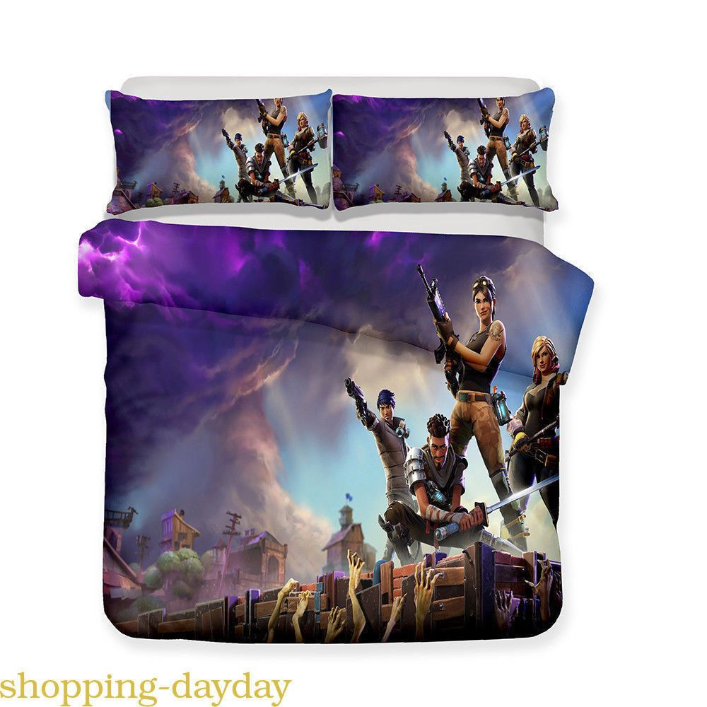 Fortnite Top Quality Single Bedding Duvet Cover With